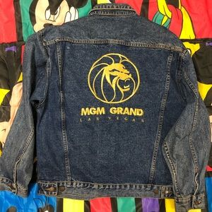Other - Vintage MGM Grand Casino Jean Jacket